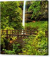 Silver Falls Bridge Canvas Print