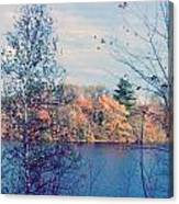 Silver Lake In Fall Canvas Print