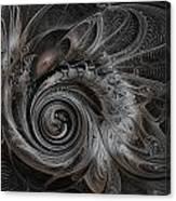 Silver Spiral Canvas Print