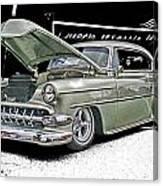 Silver Street Rod Hdr Canvas Print