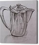 Silver Teapot Canvas Print