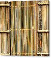 Simple Bamboo Door Canvas Print