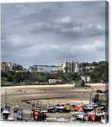 Simply North Beach From Tenby Harbour Canvas Print