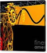 Sine Wave Machine Landscape 2 Canvas Print