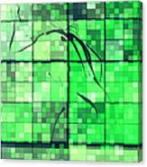 Sinful Geometric Green Canvas Print