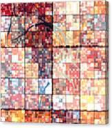Sinful Geometric Red Canvas Print