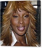 Singer Mary J. Blige Canvas Print