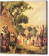 Sioux Indian Council Canvas Print