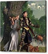 Sir Justinus The Singing Knight Canvas Print