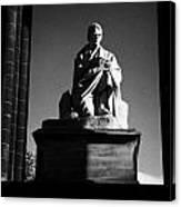 Sir Walter Scott Statue Inside The Monument On Princes Street Edinburgh Scotland Uk United Kingdom Canvas Print