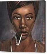 Sister With Cigarette Canvas Print