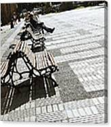 Sitting In The Park - Madrid Canvas Print