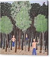 Six Little Cherokee Canvas Print