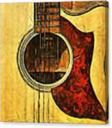 Six-string Acoustic Viii Canvas Print
