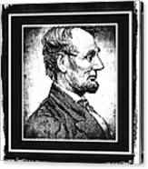 Sixteenth President Bw Canvas Print