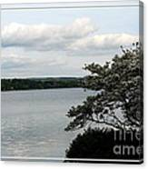 Skaneateles Lake In Ny Finger Lakes Water Color Effect Canvas Print