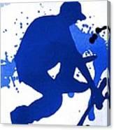 Skateboarder Blue Canvas Print