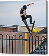 Skateboarding Ix Canvas Print