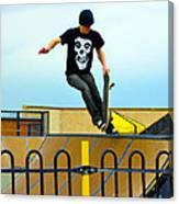 Skateboarding Xi Canvas Print
