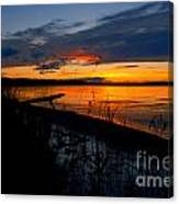 Skeloton Lake Sunset Hdr Canvas Print