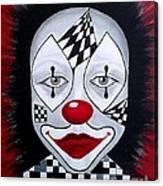 Skeptical...clown Canvas Print