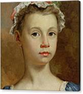 Sketch Of A Young Girl Canvas Print