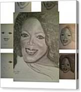 Sketching Oprah Canvas Print