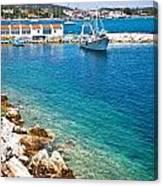 Skiathos Harbour Canvas Print