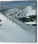 Skier Phil Atkinson Begins His Descent Canvas Print