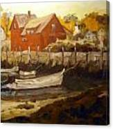 Skiffs By The Motif Canvas Print