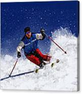 Skiing Down The Mountain Canvas Print