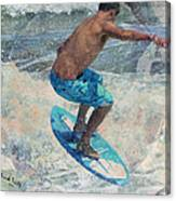 Skimboardin' In Dewey Canvas Print