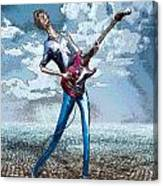 Skinny Guitar Canvas Print