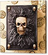Skull Box With Skeleton Key Canvas Print