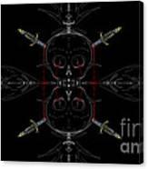 Skulls And Daggers Canvas Print