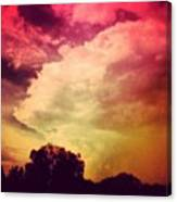 #sky #cary #colourful #clouds ☁ Canvas Print