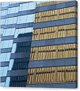 Sky Scraper Tall Building Abstract With Windows And Reflections No.0102 Canvas Print