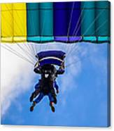 Skydivers Canvas Print