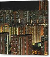 Skyline At Night Canvas Print