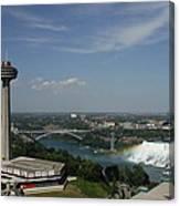 Skylone Tower And Niagara Falls Canvas Print