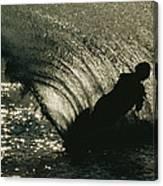 Slalom Waterskier Silhouette Canvas Print