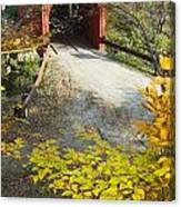 Slaughter House Bridge And Fall Colors Canvas Print