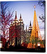 Slc Temple Tree Light Canvas Print