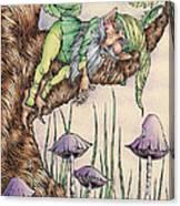 Sleeping Gnome Canvas Print