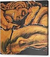 Sleeping Nymph4 - Female Nude Canvas Print