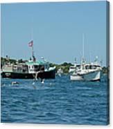 Sleepy Boats At Chatham - Cape Cod  Ma Canvas Print