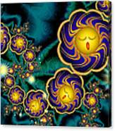 Sleepy Whirling Little Suns Canvas Print