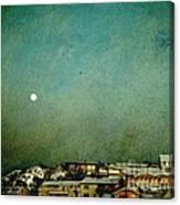 Sleepy Winter Town Canvas Print
