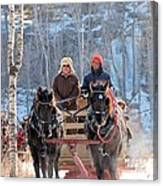 Sleigh Ride In The Frontenac Axis Canvas Print