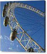 Slice Of The Wheel Of London Eye From An Angle Canvas Print
